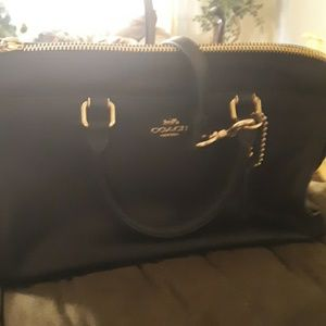 Black leather Coach purse brand new